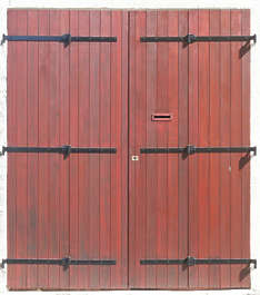 door wood double