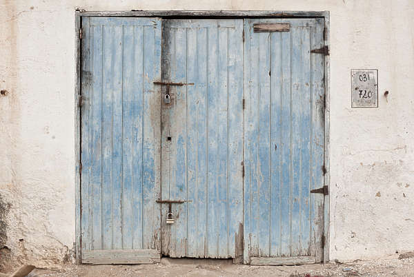 morocco door wood double garage old