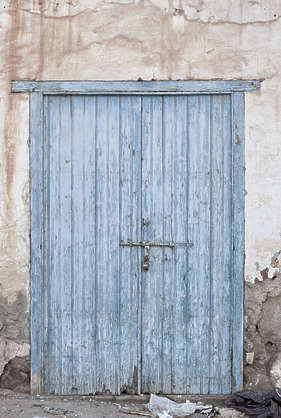 morocco door wood double old