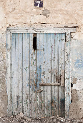 morocco door wood double old broken