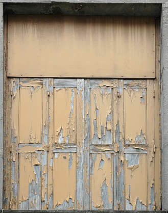 wood planks painted door weathered old crackled