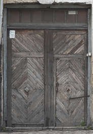 door wooden double old weathered