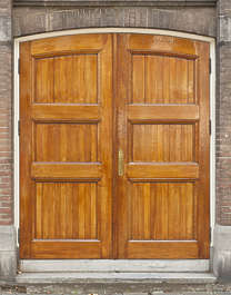 door wood wooden double new clean painted