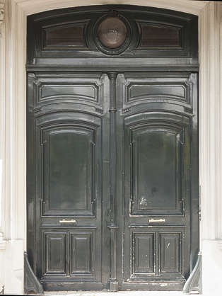door double wooden panelled
