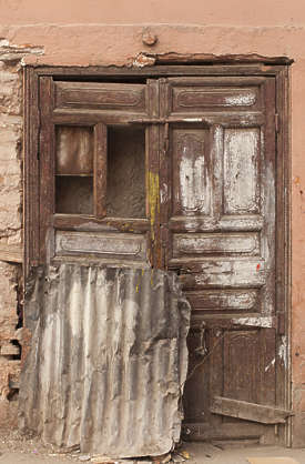 north africa arabia arabian morocco door double wooden old weathered