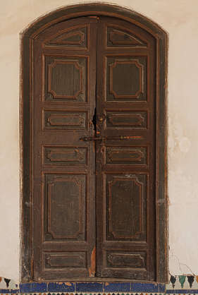 north africa arabia arabian morocco wooden double old panelled