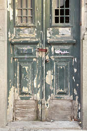 portugal door wooden double weathered old