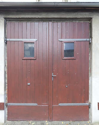 door wooden double painted garage