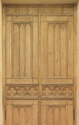 door double ornate wooden