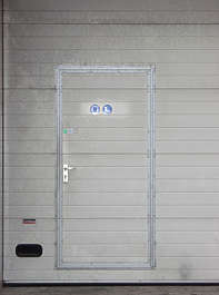 door plastic rollup garage double