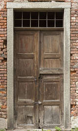 door wooden double old