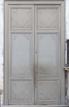 door double wooden painted