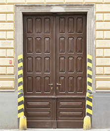 door double wooden
