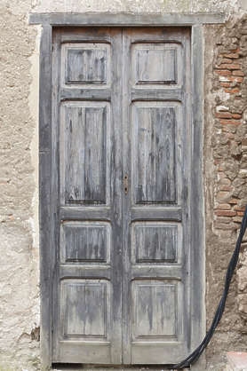 door wooden double old spain