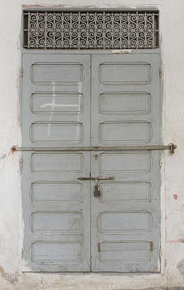 morocco wood door double