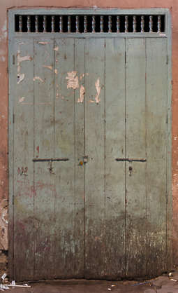 morocco wooden door double rusted