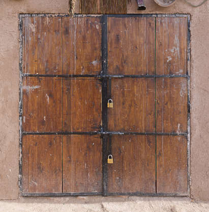 morocco door wood double