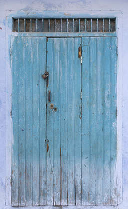morocco door wood planks painted double