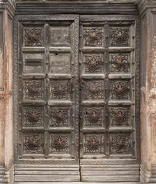 venice italy door wooden double medieval old