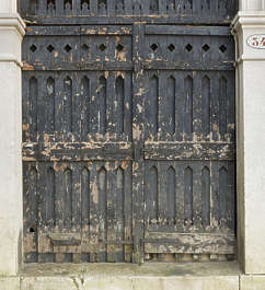 venice italy door wooden old medieval arch