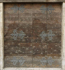 venice italy door wooden old medieval studded ornate