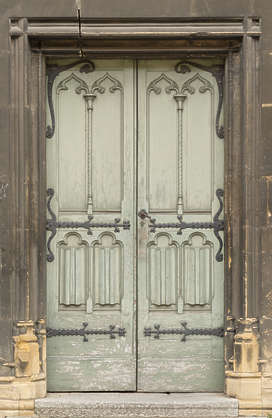 door wood old double church ornate panelled panels