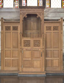 door panels confession church ornate confessional