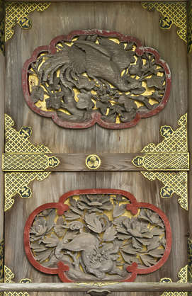 wood ornament temple shrine japan