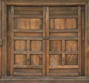 japan wood door double big large japanese medieval old shrine temple
