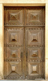 door wood medieval old ornate