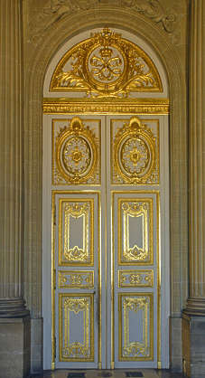 door ornate guilded versaille palace gold ornament