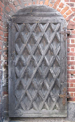 door medieval old wood