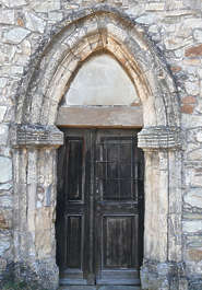 door ornate medieval arch church