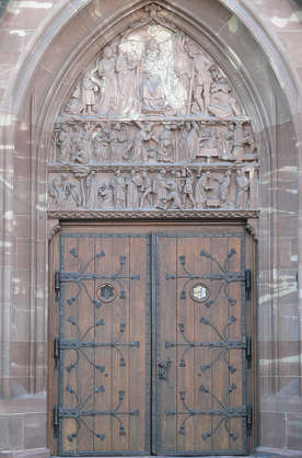 door church ornate wood