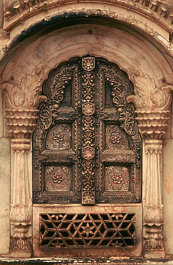 india door ornate old ornament pillar pillars column arch carved carving