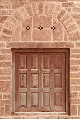 india door ornate wood old medieal arch