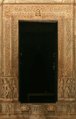 india door ornate wood temple