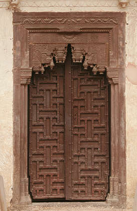india door ornate wood old medieval