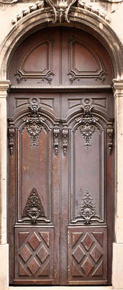 door wood ornate arch old