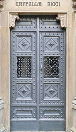 door wood ornate double