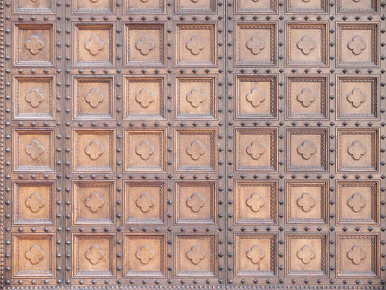 door wood studded ornate panel panels