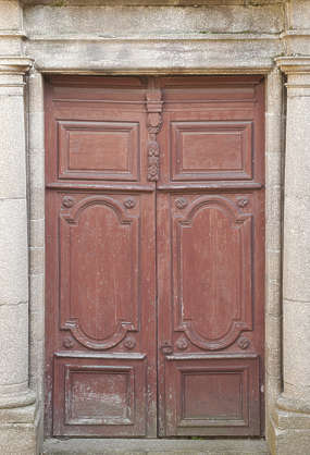 door wood ornate panelled panel house old