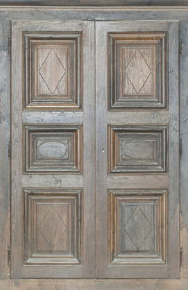door wood panelled ornate panel church old medieval double