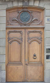 door wood double ornate