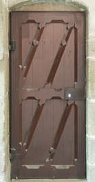 door wood single old medieval