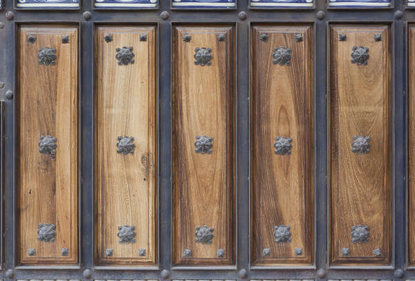 door ornate wood medieval double huge
