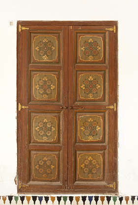 morocco door wood ornate panel panels arab arabic