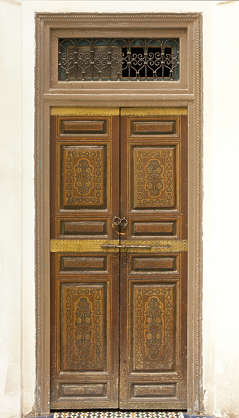 morocco door wood panels panelled ornate