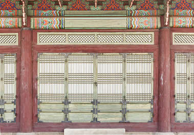 south korea temple buddhist ornate facade building old
