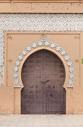 door wooden double ornate morocco